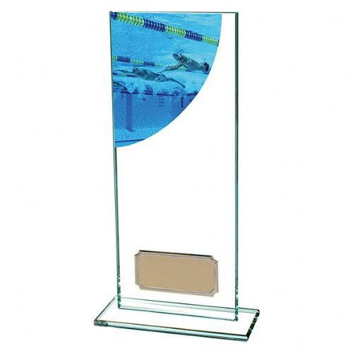 Colour Curve Swimming Jade Glass Award 200mm